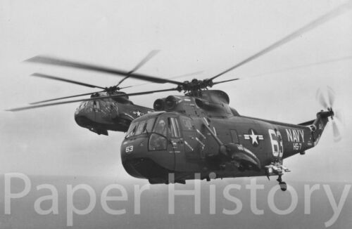 US Navy SH-3A Sea King Helicopters Military 8x10 Photo Anti Submarine 1965