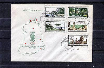 FDC Michel Nr. 1179-1184 DDR Natur- und Landschaftsschutzgebiete - b0234