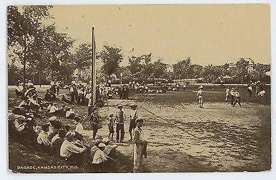Parade  Baseball Field  Game Team Kansas City Mo Vintage 1909 Missouri Postcard