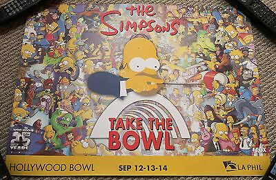 THE SIMPSONS POSTER 25TH ANNIVERSARY HOLLYWOOD BOWL 2014 CONCERT MATT GROENING