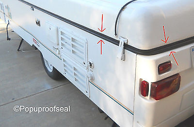 1996-2003 COLEMAN FLEETWOOD ABS ROOF SEAL 41' RUBBER GASKET TENT POPUP TRAILER