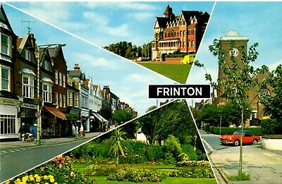 00129 Postcard showing scenes from Frinton