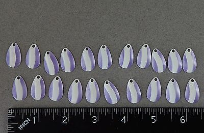 10 #3 INDIANA SPINNER RIG LURE BLADES CHROME SILVER FISHING TACKLE RIGS BLADE