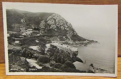 Old Real Photo Postcard - Bonne Nuit Bailiwick of Jersey Channel Island
