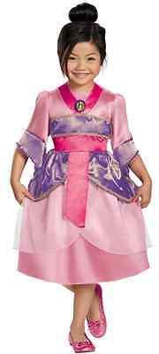 Mulan Sparkle Classic Disney Geisha Fancy Dress Halloween Toddler Child Costume - Toddler Geisha Costume
