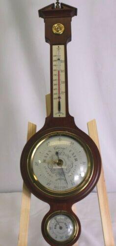 Vintage Swift & Anderson Boston Mass Mahogany English Wall Barometer Thermometer