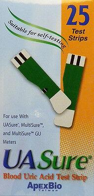 Uasure Uric Acid Test Strips  Usa Seller  Ua Sure  Box Of 25  Gout  Easy Strips