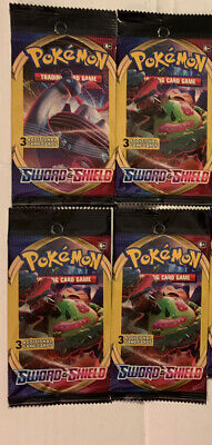 Pokemon Sword And Shield 3 Card Booster Pack Brand New
