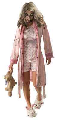 Little Girl Nightgown Zombie Walking Dead Dress Up Halloween Teen Adult Costume - Dead Girl Halloween Costumes
