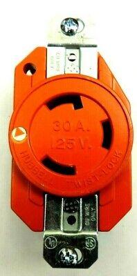 Hubbell Twist-lock Ig2610 Receptacle Socket 125v 30a L6-30r 2p 3w 1ph