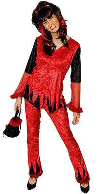 Damen Teufel Halloween-kostüm (Teufel Kostüm Damen rot Teufelin Hexe Teufelskostüm Halloween Karneval Fasching)