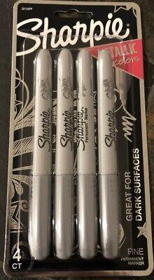 Sharpie Silver Metallic Fine Point Permanent Markers 4-pc