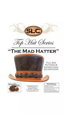 Springfield Leather Co. Mad Hatter Top Hat Leather Craft Pattern 3 Sizes