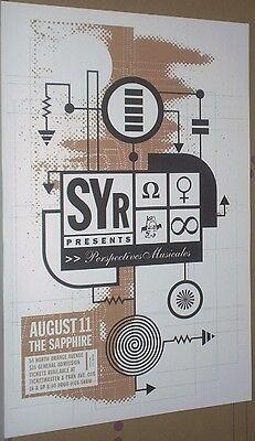 Sonic Youth MEGA-RARE LIVE 2000 CONCERT GIG POSTER Thurston Moore SYR