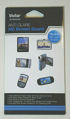 2 packs Vivitar Anti Glare High Definition Screen Guard for up to 6