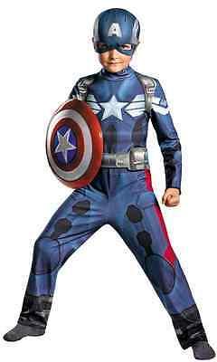 Captain America Marvel Superhero Avengers Fancy Dress Up Halloween Child Costume ()