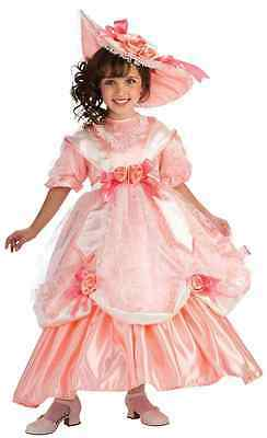 Belle Georgia Peach - Georgia Peach Southern Belle Scarlett Fancy Dress Halloween Deluxe Child Costume
