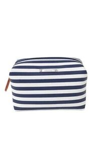Stella & Dot Navy Stripe Pouf 100% Authentic