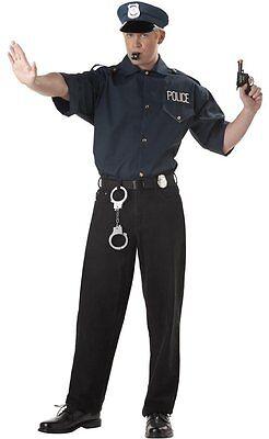 Cop Police Uniform Shirt Adult Costume (Police Uniform Costume)
