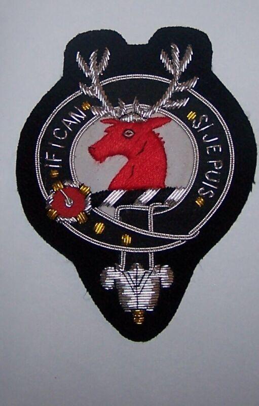 Royal Scottish Scotland Clan Colquhoun Calhoun Crest Heraldry Family Name Patch