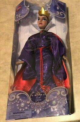 Disney Store Evil Queen Snow White Villain Doll NEW in retail purple box 12