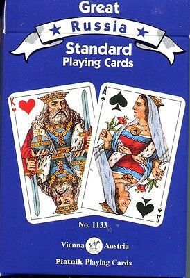 Russian Standard Playing Cards Blue Deck by Piatnik 55 Cards New Sealed
