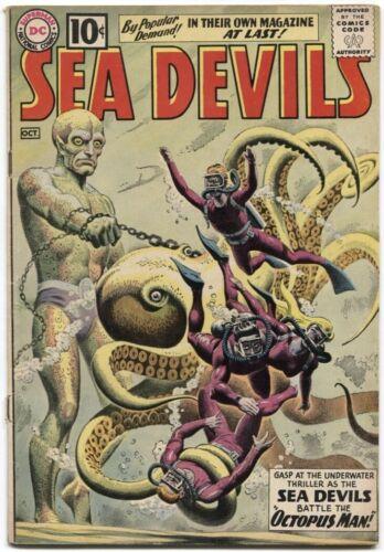 SEA DEVILS (1961) #1 5.0 VG/FN OWW SEA DEVILS VS OCTOPUS MAN