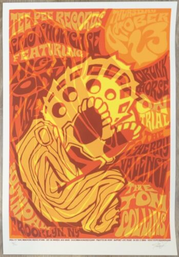 2003 High on Fire TeePee Records - NYC Silkscreen Concert Poster by James Decker