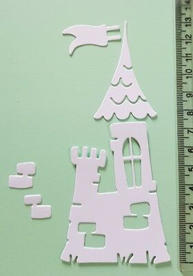 10 sets of magnolia doohickey castle die cuts - in white card (tilda)