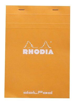 Rhodia Dot Pad - Orange - Matrice Points 5mm - 80 Sheets - 6 X 8.25 New R16558