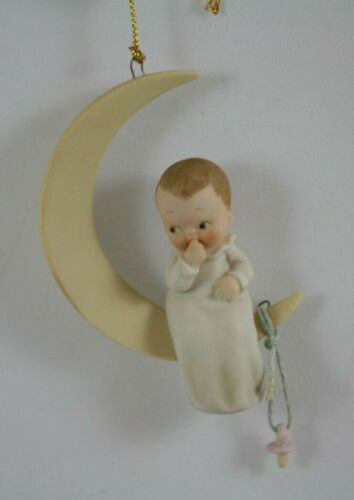 Enesco Lucie Attwell Memories of Yesterday New Moon Ornament