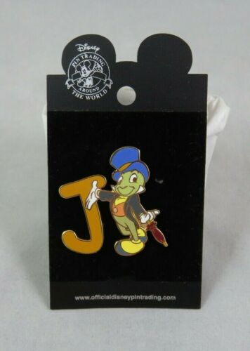 Walt Disney World Pin - Alphabet - Letter J - Jiminy Cricket - Pinocchio