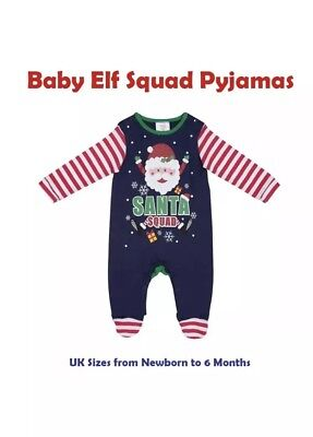 Childrens Kids Christmas Xmas Novelty Santa Pyjamas Green Multi Stripe 0-3 Month