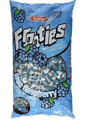 Frooties Blue Raspberry Bulk Candy 360 Count Tootsie Bulk Fruities Candies - Tootsie Roll Frooties
