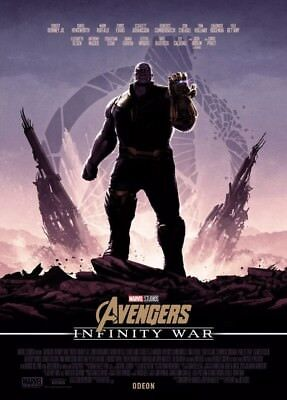 Marvel Avengers Infinity War A4 Poster Odeon RARE booking only! Thanos
