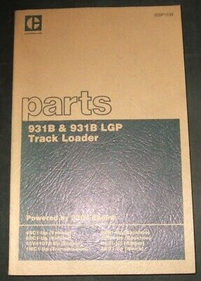 Cat Caterpillar 931b 931b Lgp Track Loader Parts Book Manual Sn 4sc 6ec