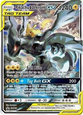 1 x Pokemon Pikachu & Zekrom GX - SM168 - SM Black Star Promo Pokemon Promos - N