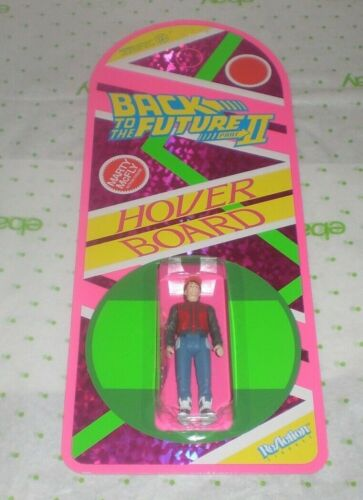 BACK TO THE FUTURE II 2 MARTY MCFLY HOVERBOARD REACTION SUPER7 FIGURE SDCC 2020