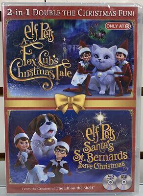 Elf On The Shelf Pets Fox Cubs Christmas Tale & Santa's St. Bernards Save DVD