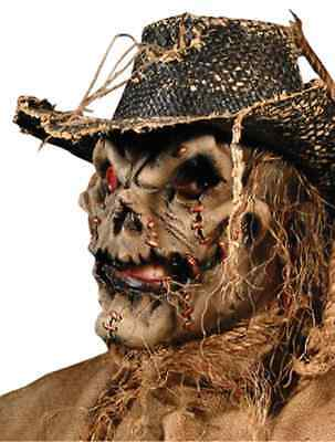 Scarecrow Scary Evil Killer Haunted Halloween Costume Makeup Latex Prosthetic - Halloween Scary Makeup