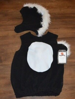 Pottery Barn Kids Baby Skunk Halloween Costume 0-6 Months NEW Cute!