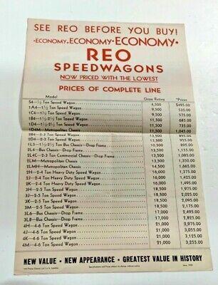 Reo Motor Car Company  1 1/2 Ton Economy Truck  Sales Brochure 1935