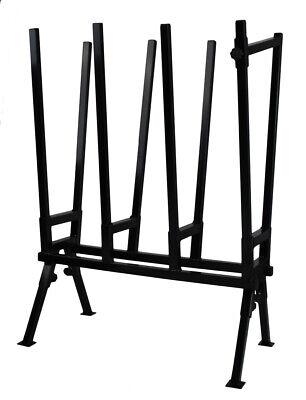 Caballete de Madera Negro Sägebock Ajustable Ayuda Sierra Leña Soporte Metal