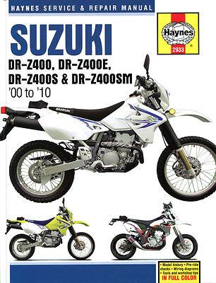 Haynes Manual 2933 - Suzuki DRZ400, DRZ400E, DRZ400S & DRZ400SM (00 - 10) DR-Z