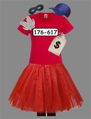 Für Panzerknacker Kostüm Fans Damen Deluxe Set mit Tutu T-Shirt Gruppen -