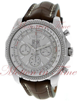 Breitling Bentley Motors 6.75 Stainless Steel 48mm White Silver Dial A44362
