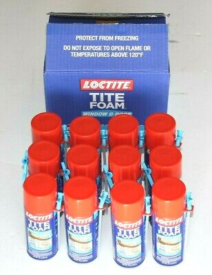 New Loctite 12 Fl.oz. Tite Foam Window And Door Insulating Spray Foam 12 Cans