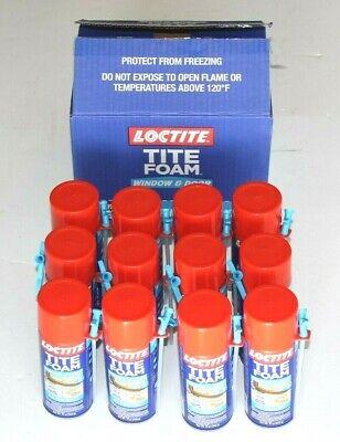 New Loctite 12 Fl.oz. Tite Foam Window And Door Insulating Spray Foam 12 Cans