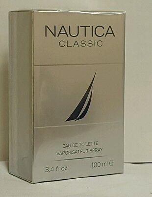 NAUTICA CLASSIC COLOGNE MEN 3.4 OZ EAU DE TOILETTE SPRAY BRAND NEW IN BOX SEALED