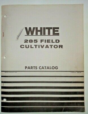 White 285 Field Cultivator Parts Catalog Manual Book Original 176 Wfe